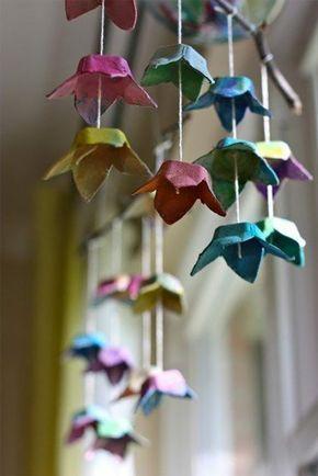 69 kunstvolle DIY Ideen, wie man hängende Mobiles selber machen kann #kreativehandwerke