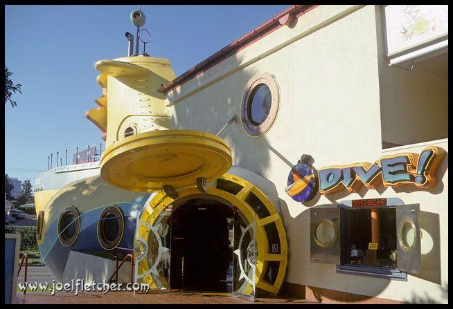 La Dive Submarine Restaurant Entrance Century City Ca