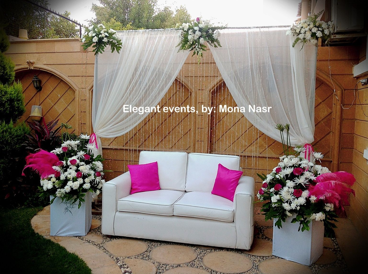 Home Engagement Decoration Ideas Part - 30: Home Engagement Kosha. Elegant Events, By: Mona Nasr