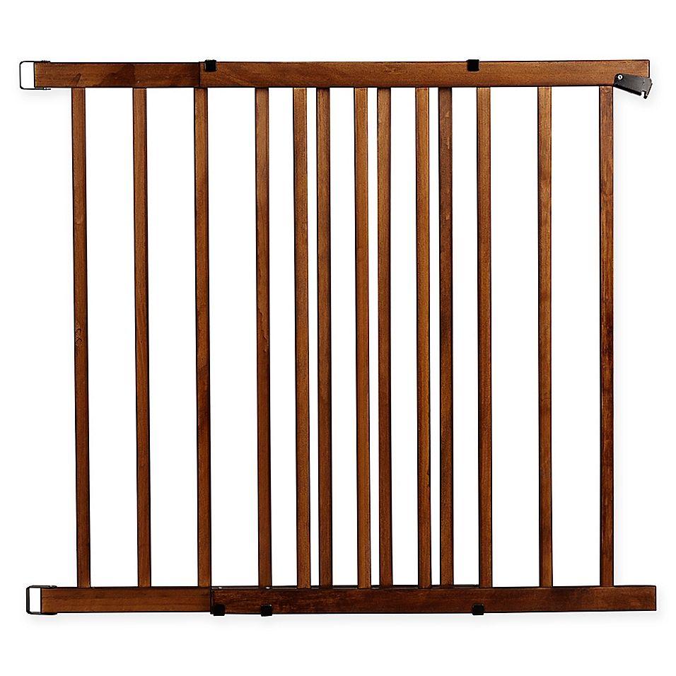 Dark Wood Evenflo Expansion Gates /& Doorways Swing Wide Extra-Wide Farmhouse