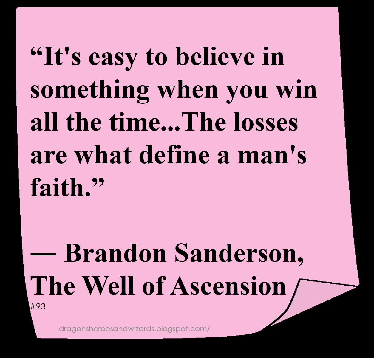 ♥ Brandon Sanderson ♥ ~ #Quote #Author #Faith