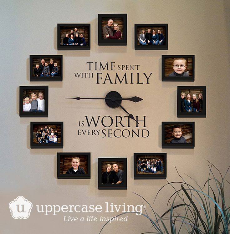 Time Spent With Family Clock Giveaway Clocks Picture walls and
