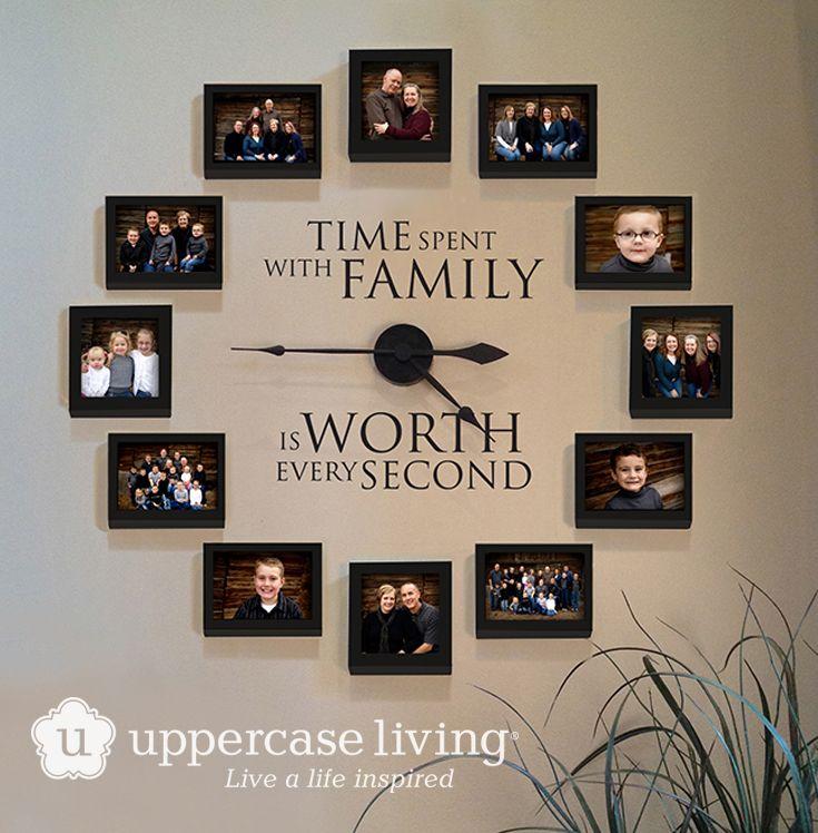 #uppercaseliving #ULvinyl #vinyllettering #livealifeinspired #ULclocks #picturewallideas