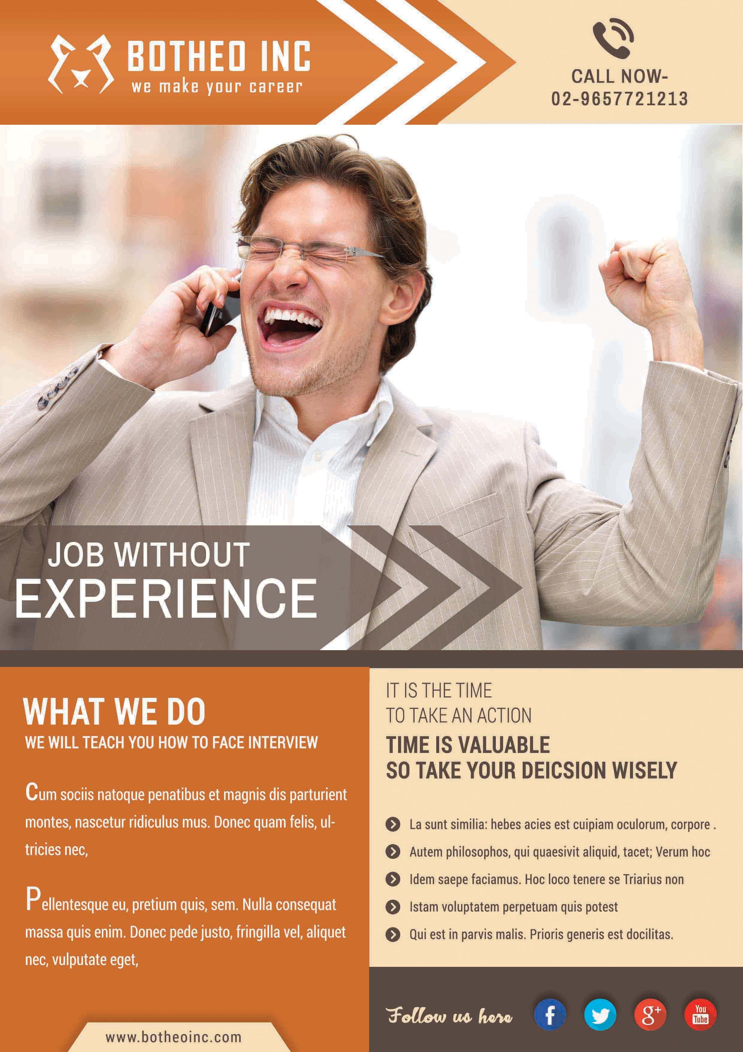 Botheo Flyer Service Design Graphic Design Services How To Face Interview