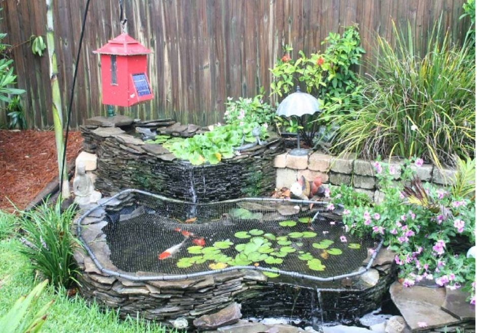 Koi pond ideas home exterior building a koi pond for Fish pond waterfall ideas