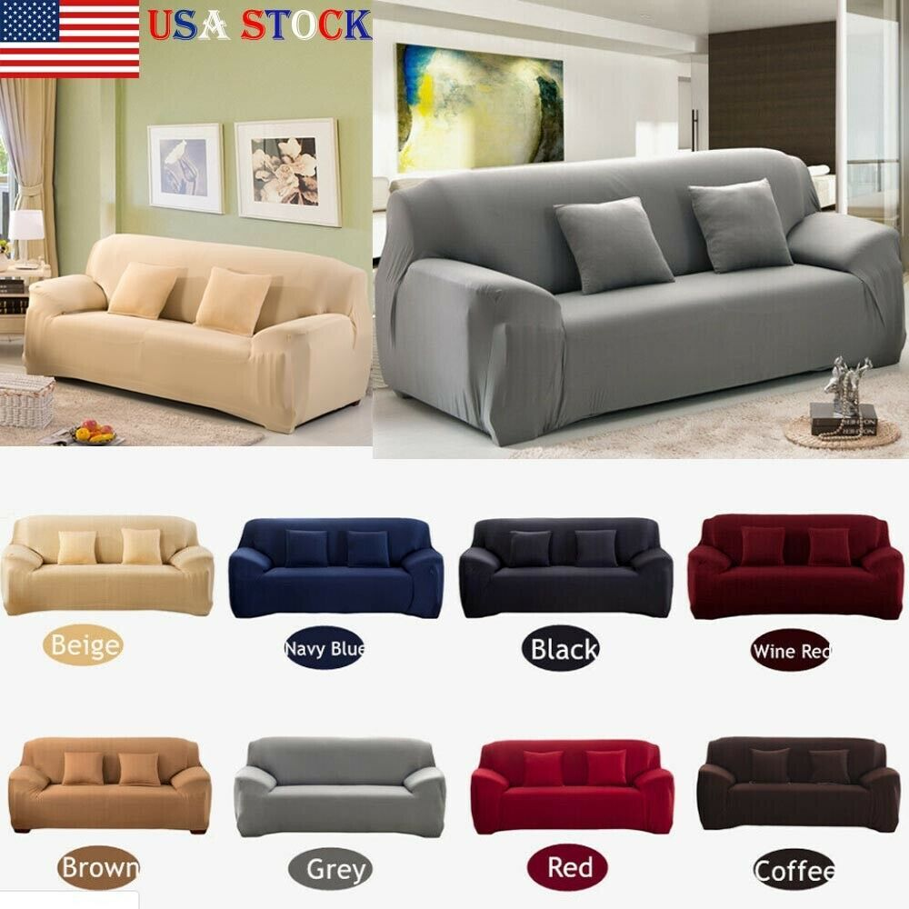 Washable 4 Seater Stretch Sofa Cover Lounge Couch Removable