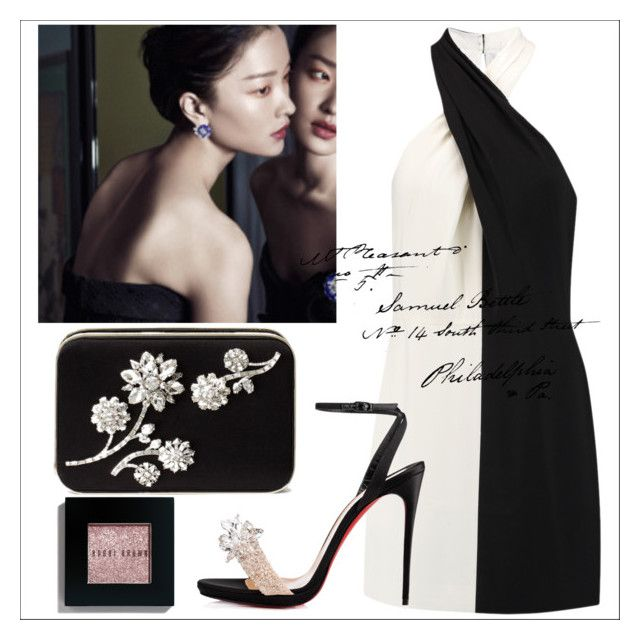 """untitled"" by kaori00 ❤ liked on Polyvore featuring Halston Heritage, Kate Spade, Christian Louboutin and Bobbi Brown Cosmetics"