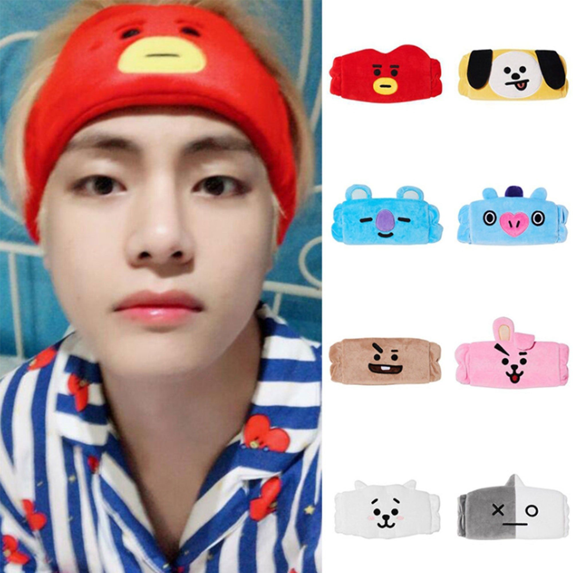 Bts Headband Bt21 Headband Bt21 Cooky Bt21 Tata Bt21 Chimmy Bt21 Rj Bts Merch Bts Kpop Unofficial By Ukistationery On En 2020 Bandas Para El Cabello Ropa Bts Diademas