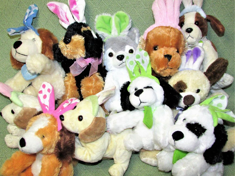 Blue Big Teddy Bear, Hug Fun Fuzzy Fleece Llama Stuffed Animal With Easter Bunny Ears 11 Plush Pal