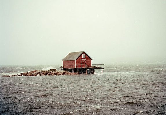 Fogo Island, Newfoundland  A very functional cabin, serving the cod fisherman of Fog Island. Not only a place for shelter, but over the years it has become a place to socialize amongst the boys.
