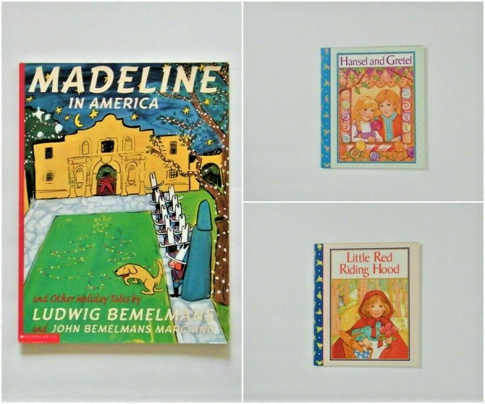 Lot of 3 Madeline In America Little Red Riding Hood Hansel ...