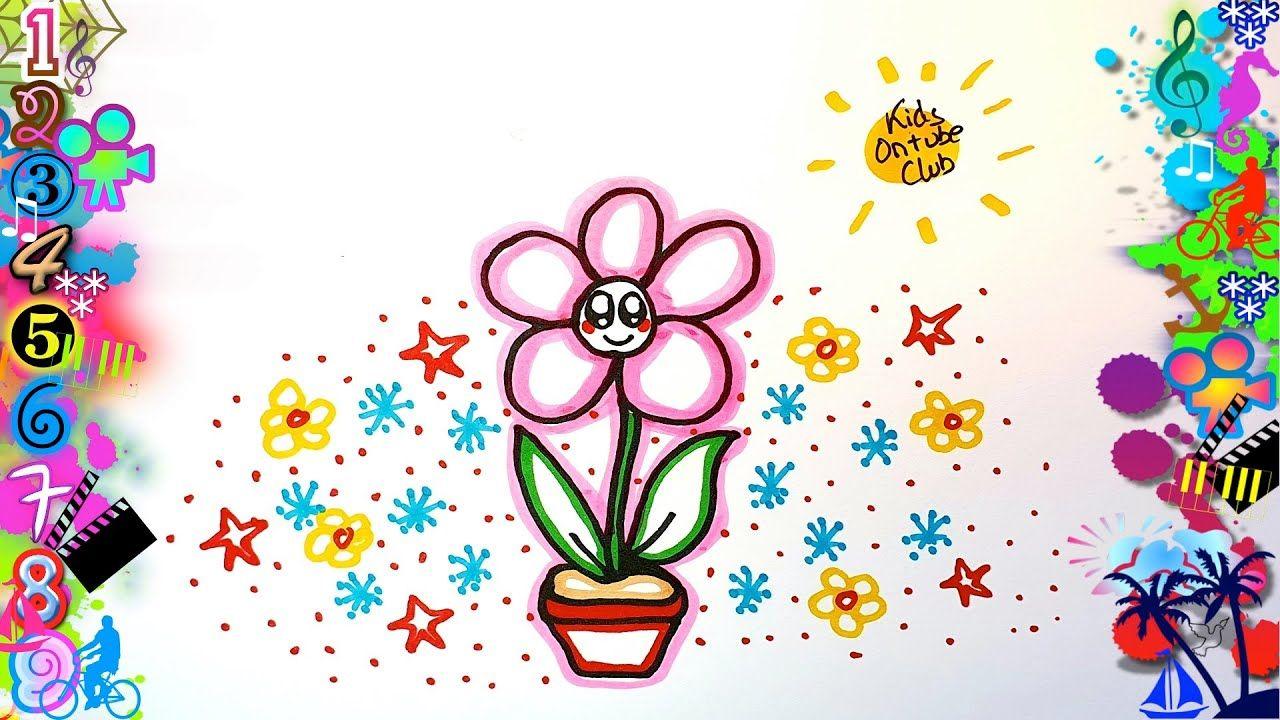 Como Dibujar Una Flor Kawaii En Un Jardin De Flores Y Estrellas Jardin De Flores Dibujos Kawaii Faciles Dibujos Faciles Para Ninos