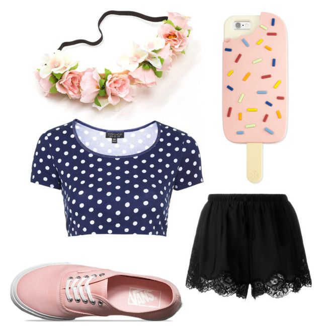"""""""Untitled #42"""" by lenapena2016 on Polyvore featuring Tory Burch, Twin-Set, Topshop and Vans"""