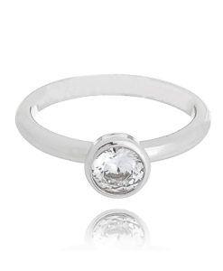 anel de falange rodio zirconia cristal semi joias
