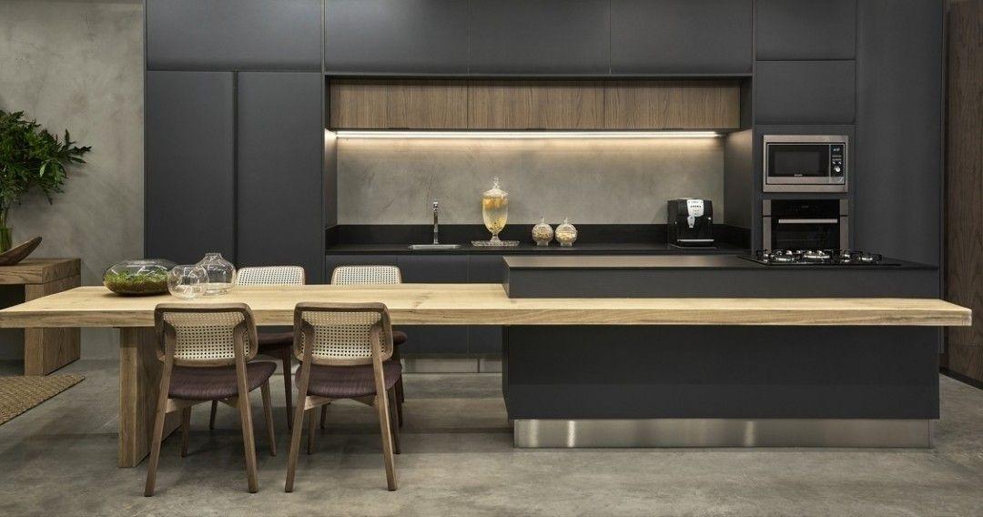 La cuisine équipée avec îlot central - 66 idées en photos - Archzine - cuisine avec ilot central et table
