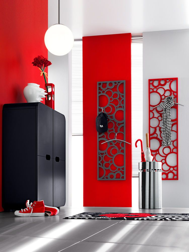 Portemanteau Mural Design Rouge Forme Bulles Home Design - Porte manteau mural original