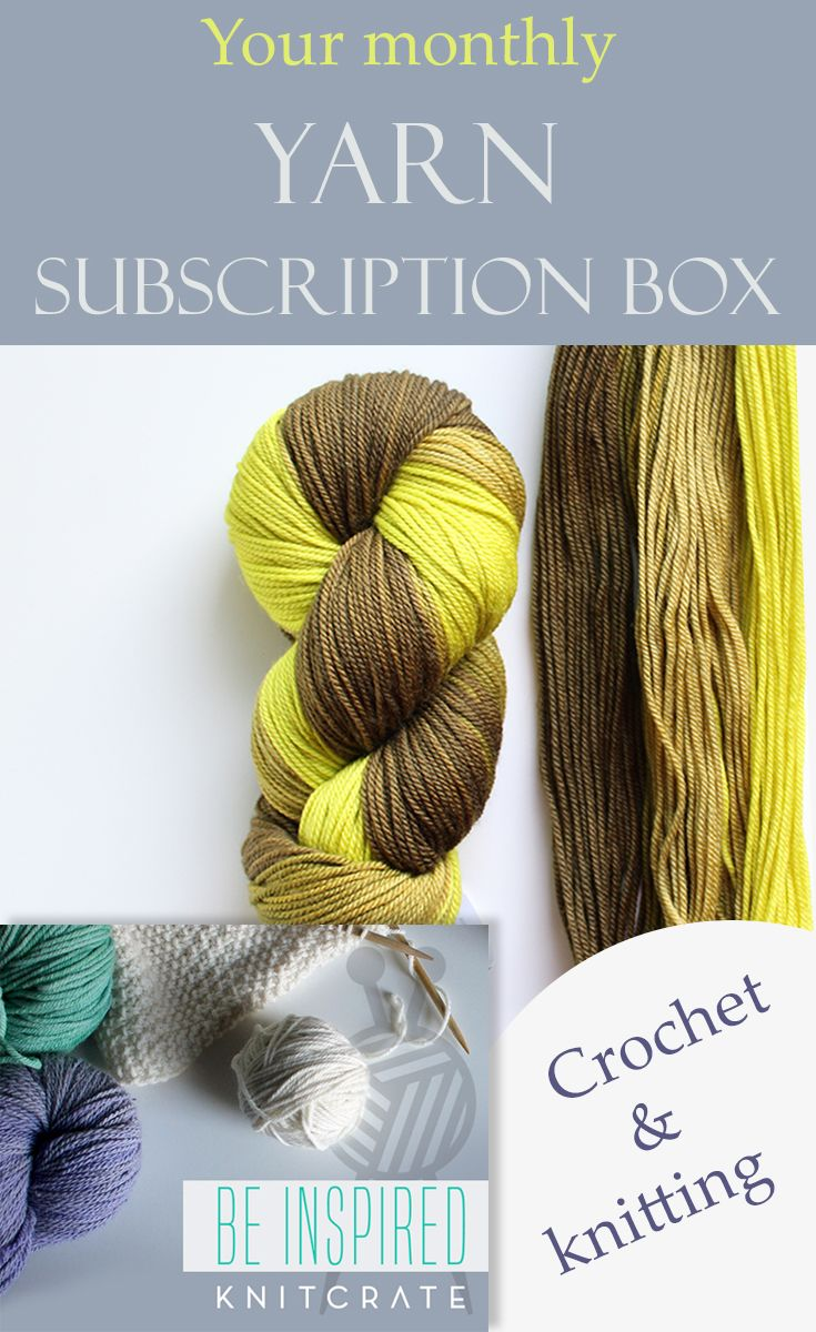 To Yarn Lovers Great Quality Yarn Box To Your Door Every Month Ships Worldwide 4 Different Yearn Crates To Choose From Yarn Subscriptions Yarn Crochet Blog