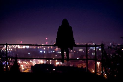 Image result for alone images city night
