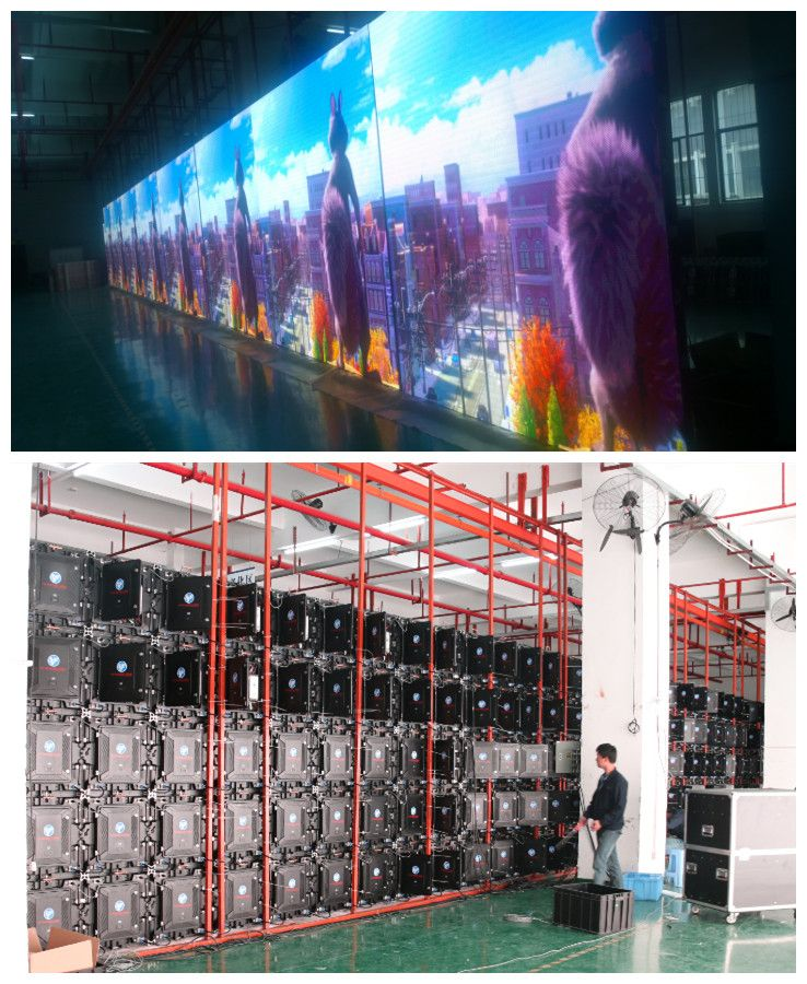 Newstar LED P3 high precision rental led wall aging test cabinet size 576x576mm