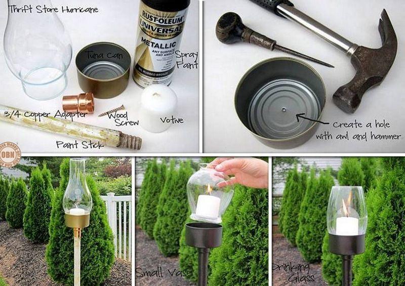 DIY Outdoor Candle Lantern