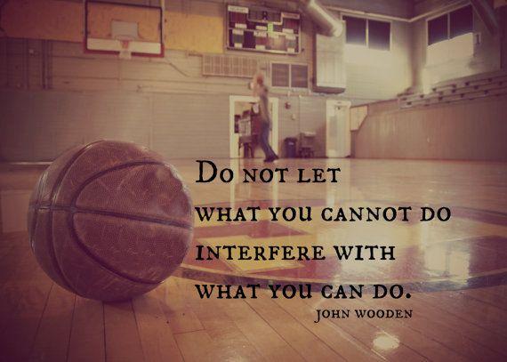 Sports Quote John Wooden Basketball Wall Art Print