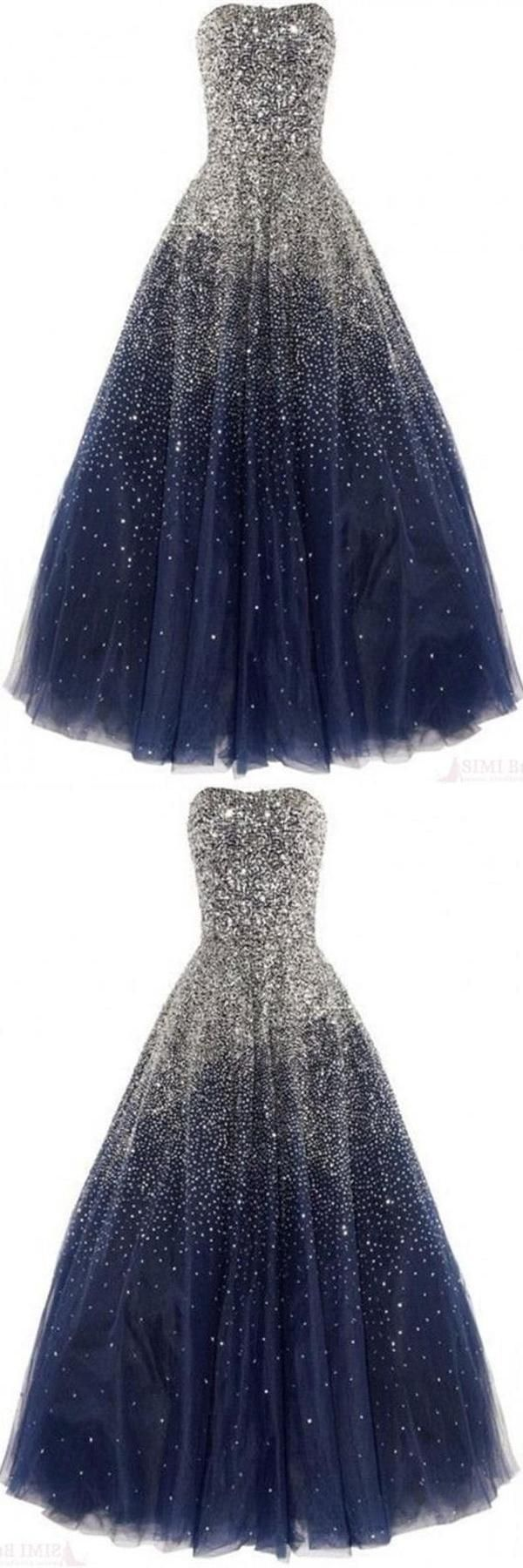 Prom dresses blue prom dresses ball gown sequin prom dresses navy