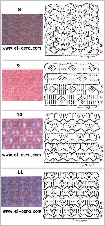 Crochet stiches3   crochet stiches   Pinterest   Crochet, Crochet ...
