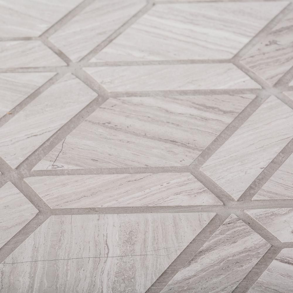 Jeff Lewis Crescent Gray 10 25 In X 11 In X 8 Mm Honed Limestone Mosaic Floor And Wall Tile 98489 The Home In 2020 Mosaic Floor Tile Limestone Wall Mosaic Flooring