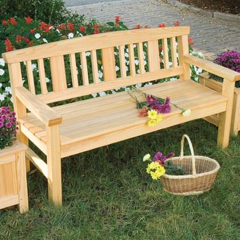 Garden Bench Woodworking Plan by Woodcraft Magazine benches