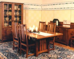 Arts Crafts Dining Table Swartzendruber Furniture Creations