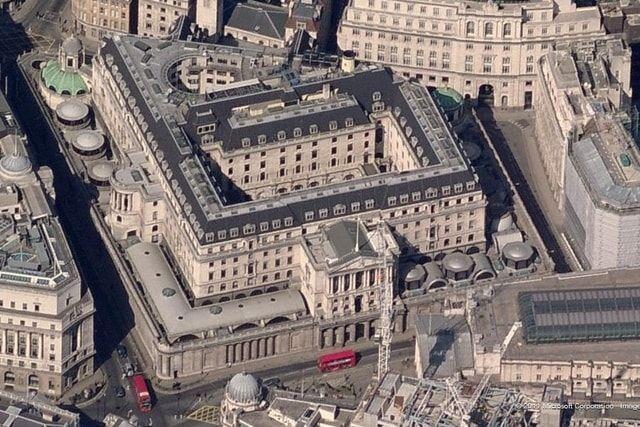 Le musée de la banque d'Angleterre John Soane Fenêtres aux étages sécurité
