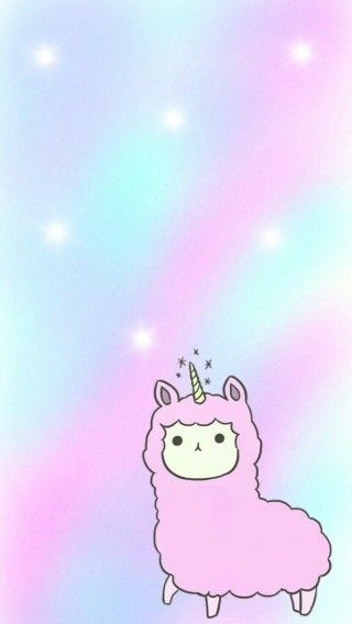 Alpaca Unicorn Emoji Wallpapers Unicorn Wallpaper Kawaii Wallpaper