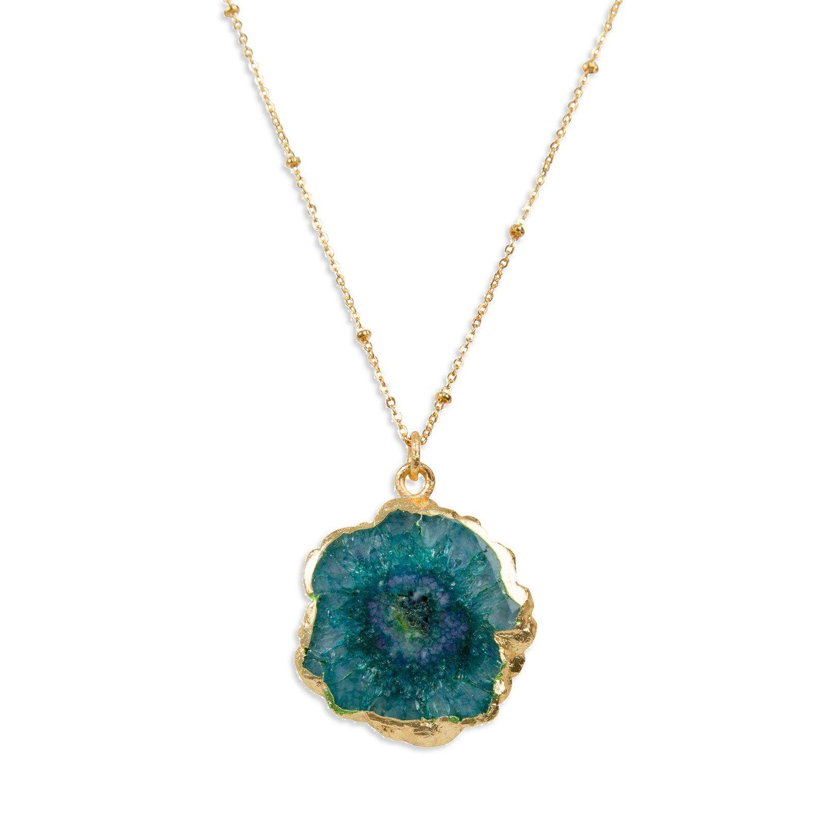 Collier Océan bleu - Un élégant pendentif qui révèle tout l'éclat du verre…
