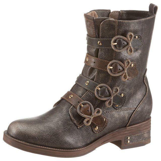 Mustang Shoes Stiefelette mit Nieten verziert | Damen boots