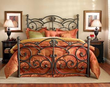 Wesley Allen Lucerne Iron Bed In 2020 Wrought Iron Bed Frames Iron Bed Frame Iron Bed