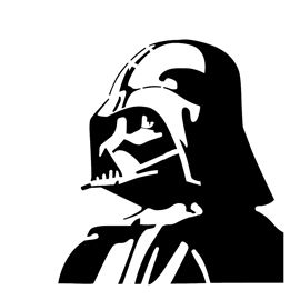Darth Vader Stencil Geek Head Collection Shirts Cups Gifts