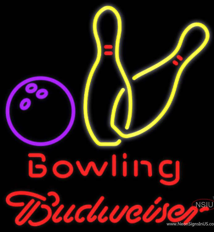 Budweiser Neon Bowling Neon Yellow Sign Affordable And Durable Made In Usa If You Want To Get It Please Click The Visit Neon Signs Yellow Sign Neon Beer Signs