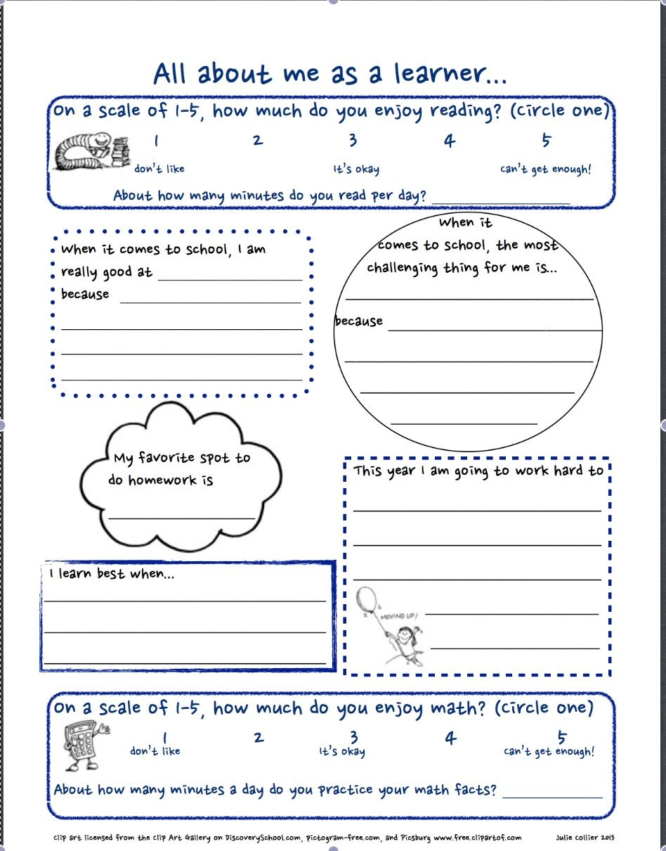 worksheet All About Me Middle School Worksheet getting to know you free worksheet for the first day of school all about me