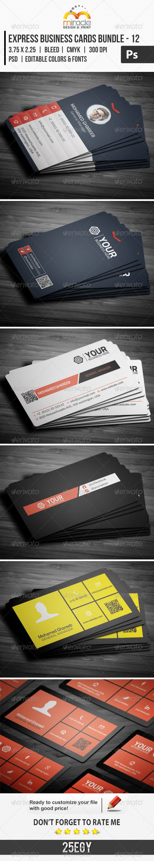 Express business cards bundle 12 creative 12 and business cards express business cards bundle 12 reheart Gallery