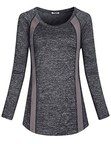 3a52a0faac73da ... Wear for Women, Ladies Color Block Curved Hem Running Gym Sports Plus  Size T Shirt Striped Nice Plain Pullover Tops Breathable Casual Blouse Black  XXL