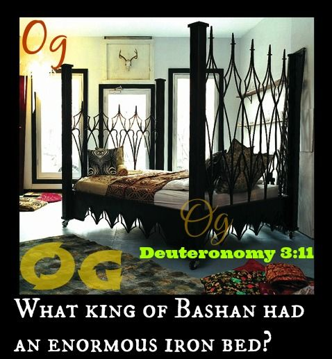 Deuteronomy 3 11 King Og Of Bashan Was The Last Survivor Of The