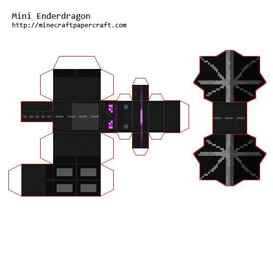 ender dragon cut out check this out pinterest. Black Bedroom Furniture Sets. Home Design Ideas