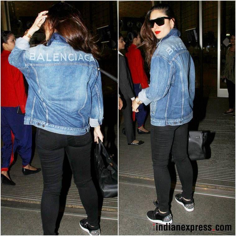 You Can Easily Pull Off Kareena Kapoor Khan S Airport Look Denim Jacket Fashion Kareena Kapoor Khan Kareena Kapoor