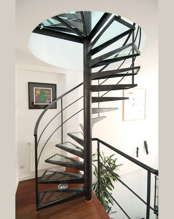 photo dh30 spir 39 d co dalle de verre escalier d 39 int rieur h lico dal design et contemporain. Black Bedroom Furniture Sets. Home Design Ideas