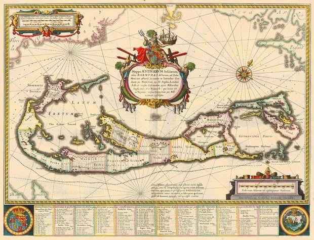 map of bermuda - Google Search | Tattoo | Map, Antique maps ...