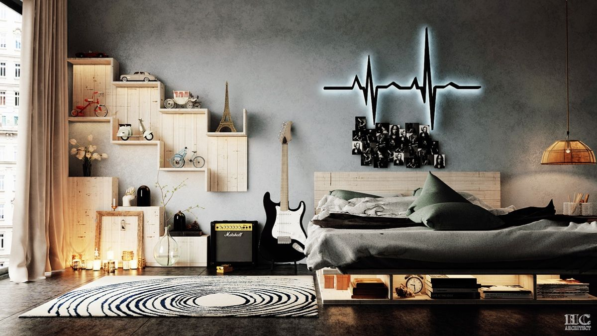 Applying Modern Bedroom Designs Below Decorated With a Variety of Wall Texture Design Ideas - RooHome | Designs & Plans