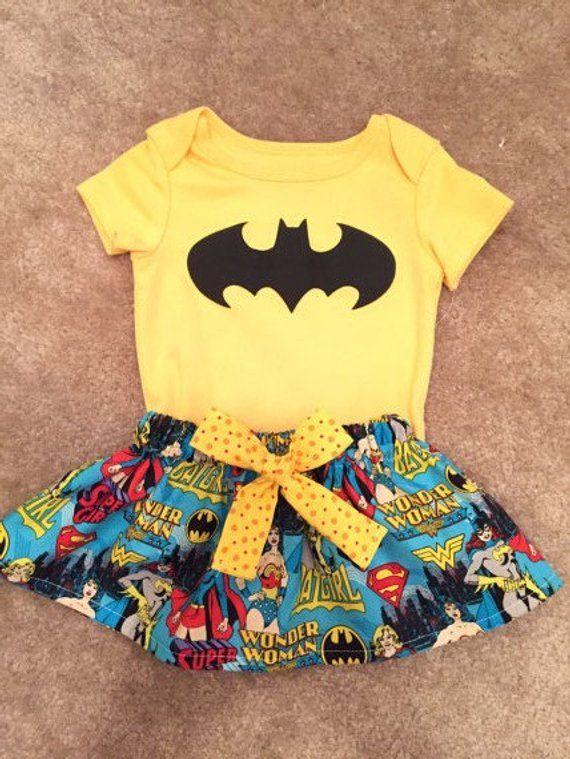 8720480d8380 Wonder women Super Hero superman outfit baby girl skirt Dress up Size  Newborn 3 6 9 12 18 24 months