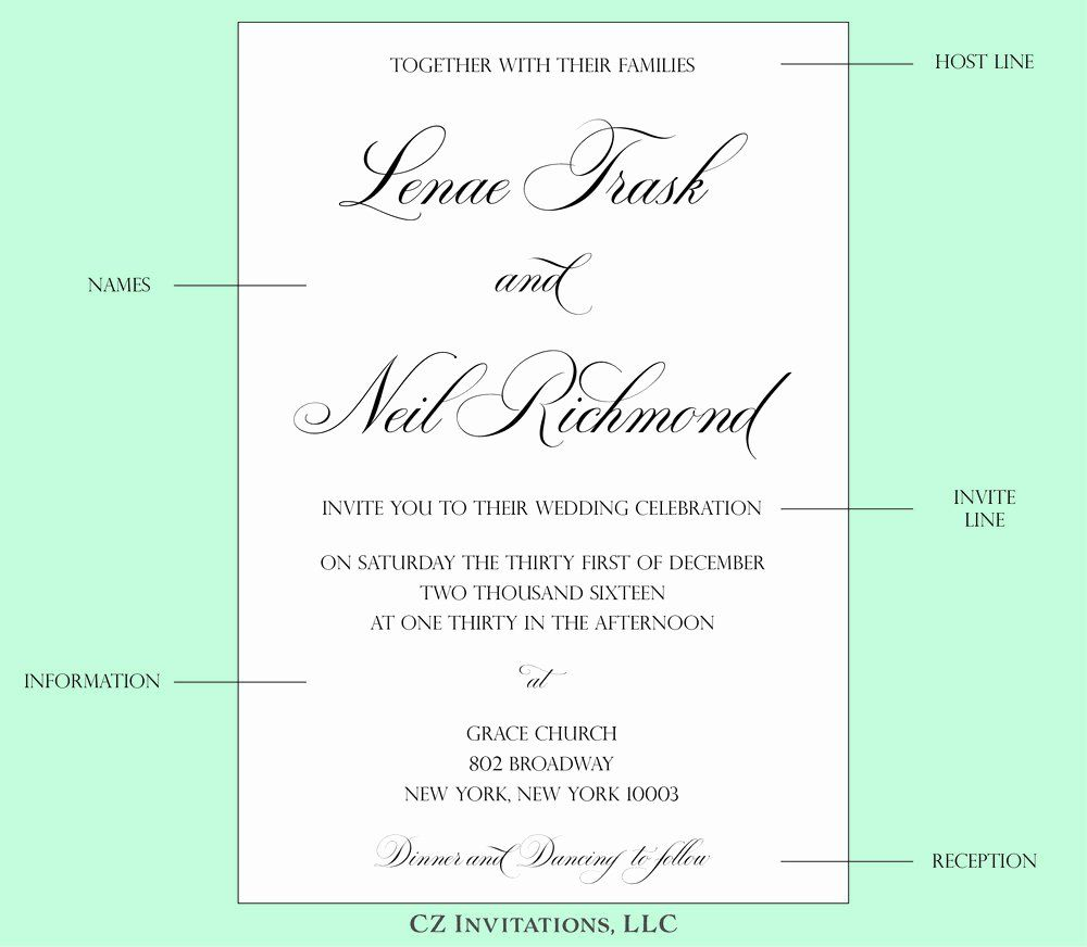 Lovely Wedding Invitations Wording Template | Wedding ...