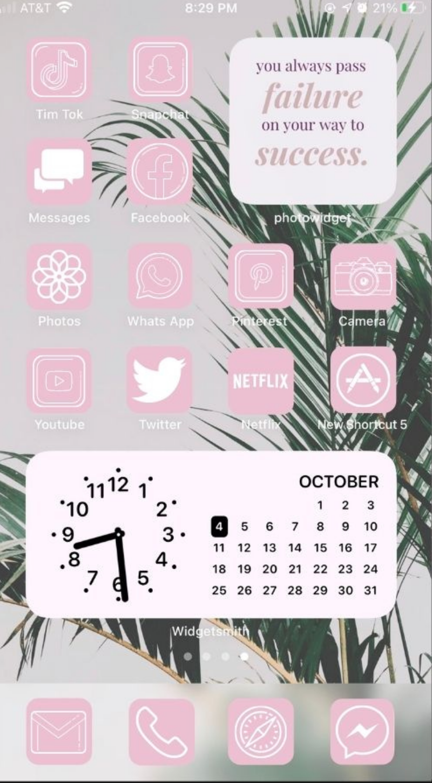 iOS 14 Home screen idea, App icons for iOS 14 iPhone.