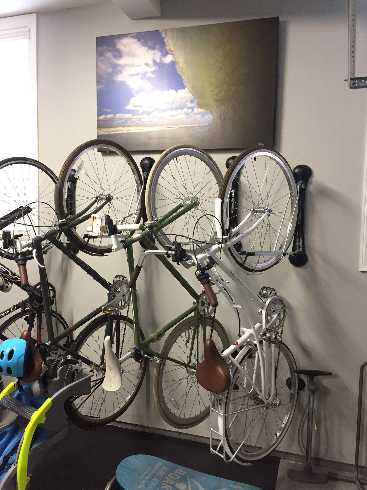 Compact Vertical Bike Rack - Wall Mount